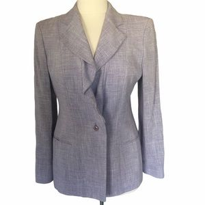 Armani Collezioni Purple Blazer Size 6 One Button